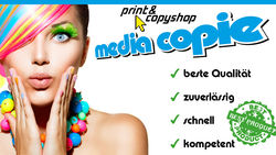Media Copie Print & Copyshop Innsbruck, Tirol, Digitaldruck, Plots, Poster, Roll up, Grossformatdruck, Visitenkarten, Folder, Fl