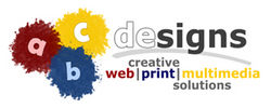 Logo abcdesigns.at: Webdesign, Printdesign, Multimedia